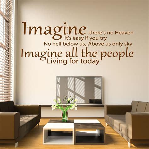 Bedroom Wall Stickers Lyrics by Lennon Imagine Song Lyrics Wall Sticker Decal
