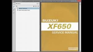 Suzuki Freewind Xf650 - Service Manual - Wartungsanleitung - Wiring Diagrams - Schaltpl U00e4ne