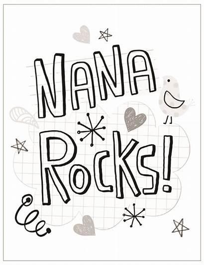 Nana Coloring Pages Happy Birthday Mothers Grandma