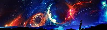 Dual Monitors Space Multiple Universe Display Wallpapers