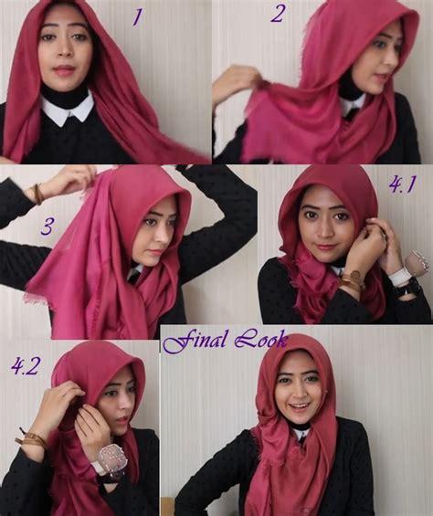 tutorial hijab modern kerudung segi empat terbaru kreasi
