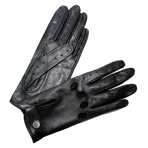 gants anti chaleur cuisine gants de conduite femme cuir noir glove fermés