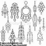 Earring Coloring Earrings Silhouette Chandelier 1025 Schmuck Ohrring 無料 Shutterstock Ausstellungsstand Od Faerbung Ohrringe Seite Jewellery sketch template