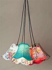 Cordelia light cluster lampshades
