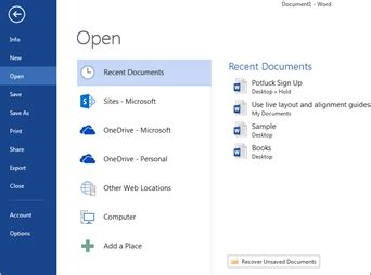 open files   file menu office support