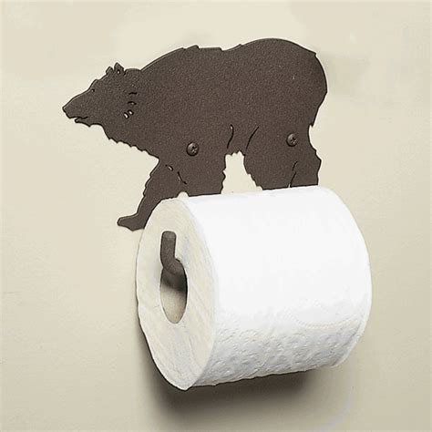 metal grizzly bear toilet paper holder