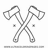 Coloring Axe Axes Ultra sketch template