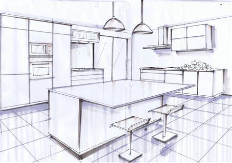 cuisine en 3d facile ilot central noir et blanc le de elise fossoux