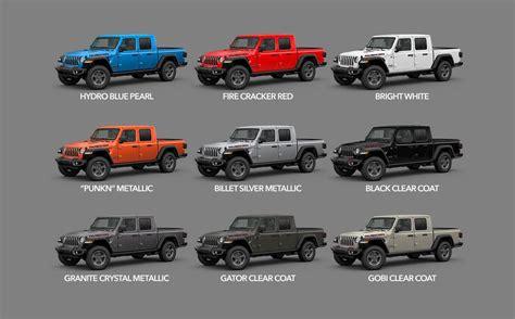gladiator colors availability  start  production  jeep gladiator jt news