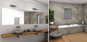 beautiful salle de bain nature pierre contemporary With salle de bain nature et zen