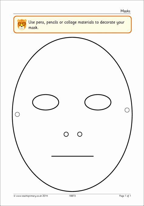 blank face mask template sampletemplatess sampletemplatess