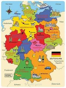 Traditionen In Deutschland : deutschland karte germany karte deutschland deutsche bundesl nder deutschlandkarte ~ Orissabook.com Haus und Dekorationen
