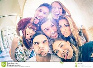 Best Friends Taking Selfie And Having Fun Together Stock ...
