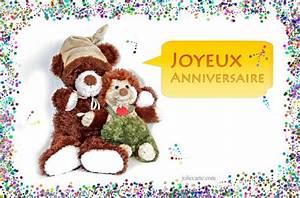 Carte Anniversaire Pour Enfant : cartes virtuelles anniversaire ourson joliecarte ~ Melissatoandfro.com Idées de Décoration
