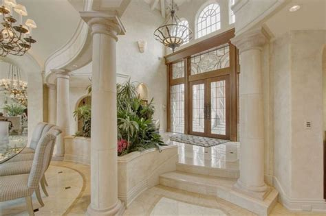 luxury mansion interior foyer columns elegant residences   mansion interior dream house