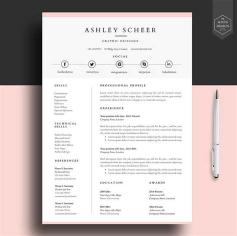 Cv Layout Template Word by Image Result For Professional Cv Template Design Resume
