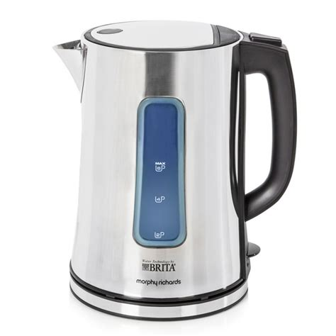 morphy richards brita accents kettle polished stainless