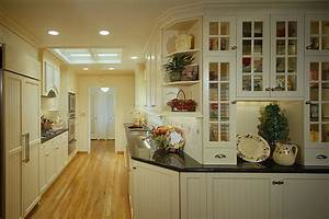 Kitchen off white country style galley kitchen with for White country galley kitchen