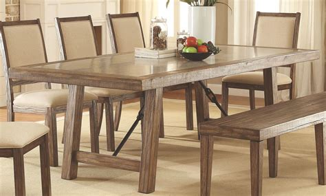 colettte rustic oak rectangular dining room set cmt