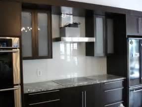 Kitchen With Glass Backsplash White Kitchen Grey Glass Backsplash Home Design Ideas