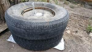 Faire Un Moule Pour Béton : pneu jet es en b ton tape 5 cr er le moule pour la section de b ton au dessus du pneu ~ Melissatoandfro.com Idées de Décoration