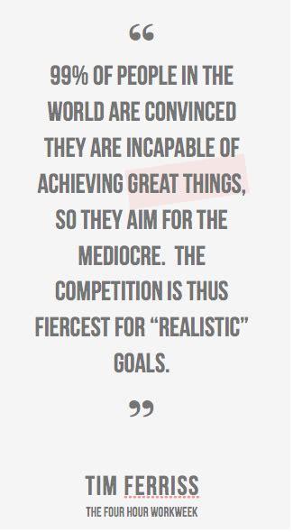 realistic goals   daunting
