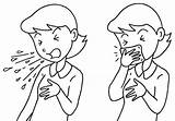 Cough Clipart Clip Manners Coughing Throat Coloring Sneezing Mouth Sneeze Etiquette Sore Cliparts Drawing Sketch Template Bad Library Prevention Measures sketch template