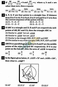 Nstse 2011 Solved Question Paper For Class Ix