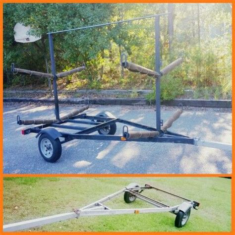 Convert A Boat Trailer To Pontoon Trailer by Kayak Trailer Hauler Holds 4 8 Boat Trailer
