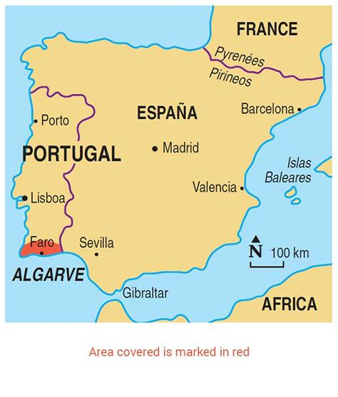 map  lagos portugal  travel information