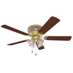 shop harbor breeze 52 quot polished brass ceiling fan at lowes com