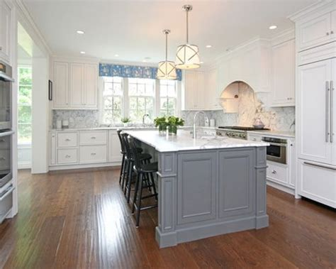 white kitchen with gray island grey island houzz 1835