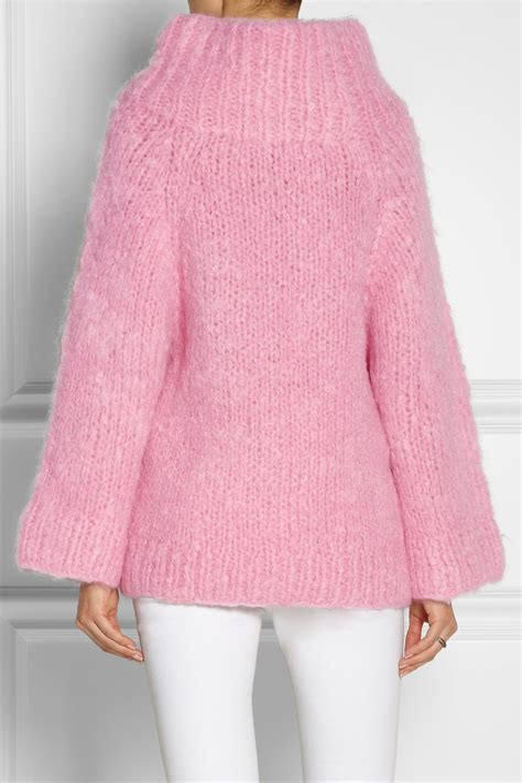 oversized pink sweater lyst michael kors oversized mohair blend sweater in pink