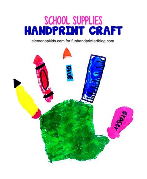 school supplies handprint craft kid network 973 | 8a8fb351fe3802dc0d10f81e7e999c57
