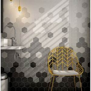Carrelage Mural Douche : carrelage mural fa ence scale hexagon 10 couleurs hexagone 12 4x10 7cm casalux home design ~ Melissatoandfro.com Idées de Décoration