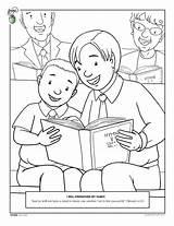 Coloring Pages Lds Obey Children Church Parents Sharing Bible Friend Worship Singing Happy Mormon Living Kleurplaten Template Kerk Primary Van sketch template