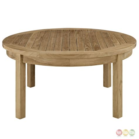 Shop for round coffee tables at cb2. Marina Natural Teak Wood Outdoor Patio Round Coffee Table ...
