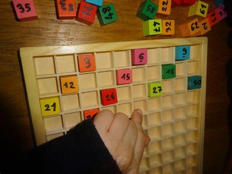 table de multiplication en bois chiffres de 1 224 100 pour apprendre les chiffres multiples