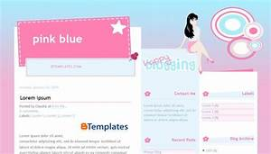 pink blue blogger template btemplates With xml templates for blogger free download