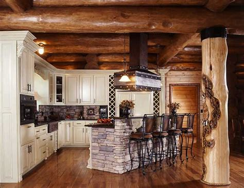 log home kitchens photos of a smoky mountain log home