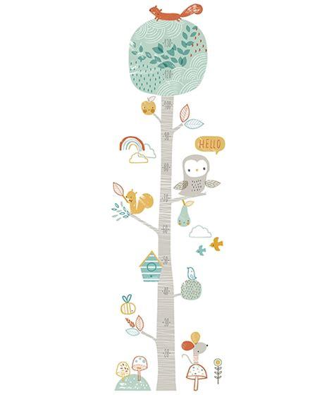 toise chambre bébé toise bébé arbre et hibou décoration chambre d 39 enfant