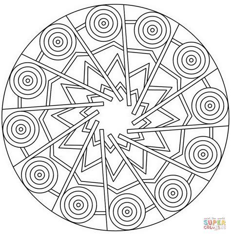 circle mandala coloring page  printable coloring