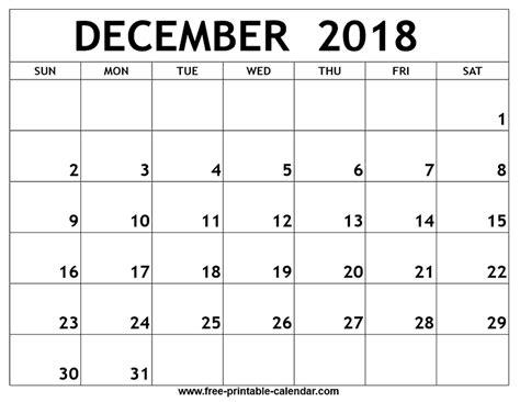 december 2017 printable calendar calendar 2018 december 2018 printable calendar printable calendar dece