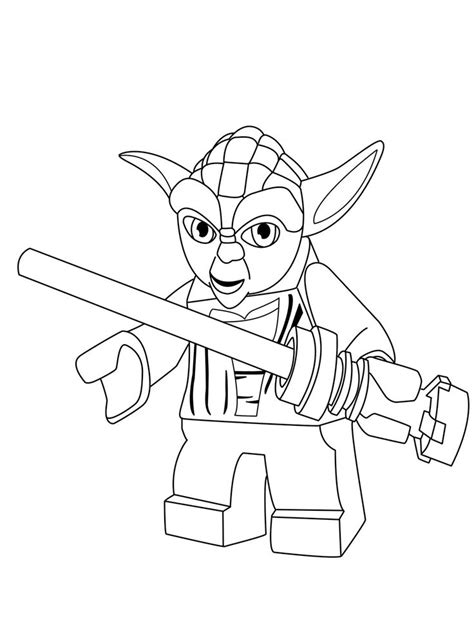 yoda thinks coloring page color pages pinterest
