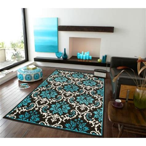 large contemporary area rugs for living room blue black