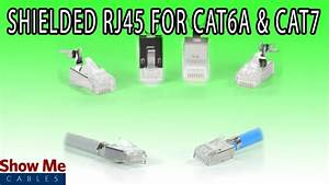 Shielded Rj45 Connector For Cat6a  U0026 Cat7