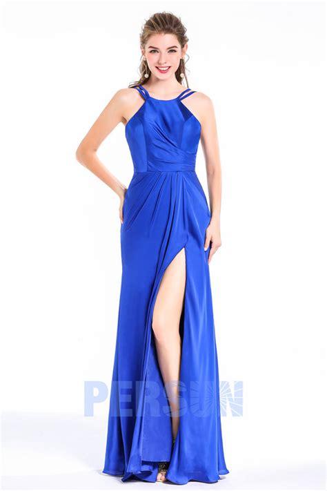 robe longue de soir 233 e fendue pour mariage bleu roi persun fr