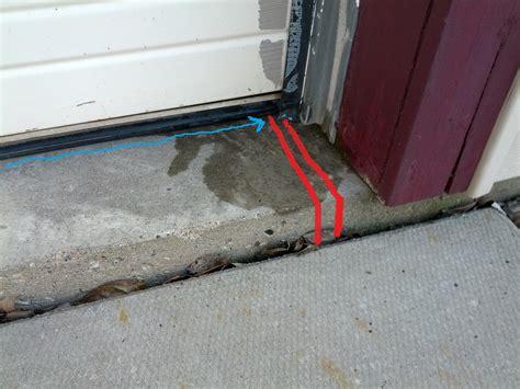 Garage Door Uneven by Garage Door Seal For Uneven Concrete Tarakabayan