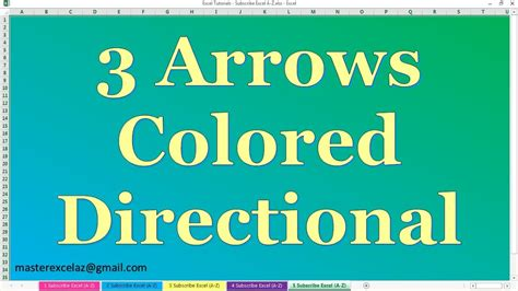 Apply 3 Arrows Colored Directional Icon Set