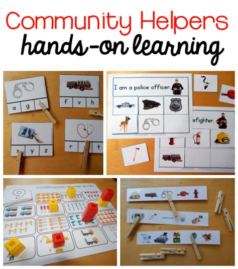 new community helpers theme pack the measured 373 | hands on learning image 590x668